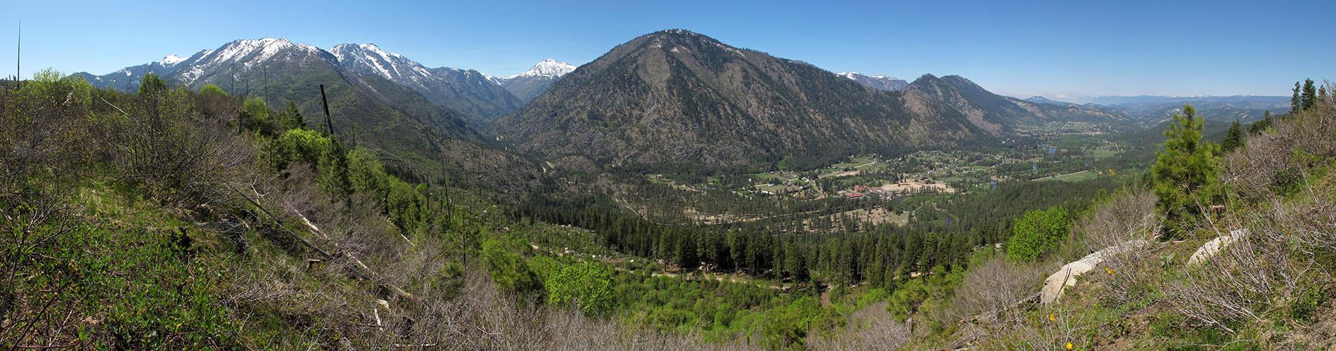 Mountain Home Ridge panorama [Rat Creek Ridge Trail, Wenatchee National Forest, Washington]