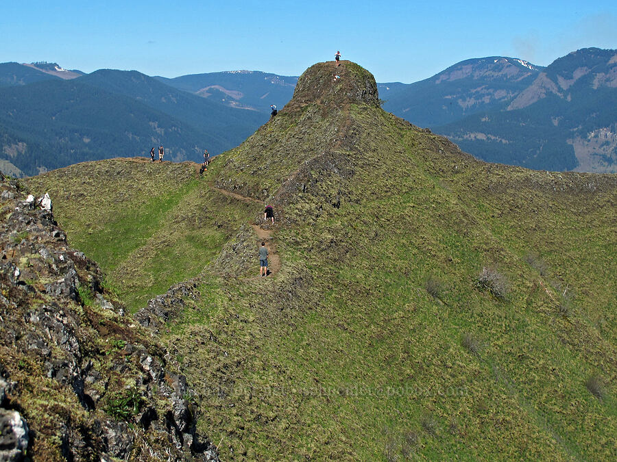 hikers at Munra Point [Munra Point, Columbia River Gorge, Oregon]