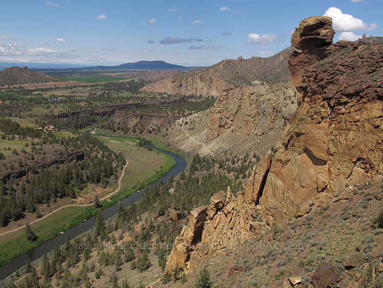 Monkey Face & Crooked River [Misery Ridge, Smith Rock State Park, Oregon]