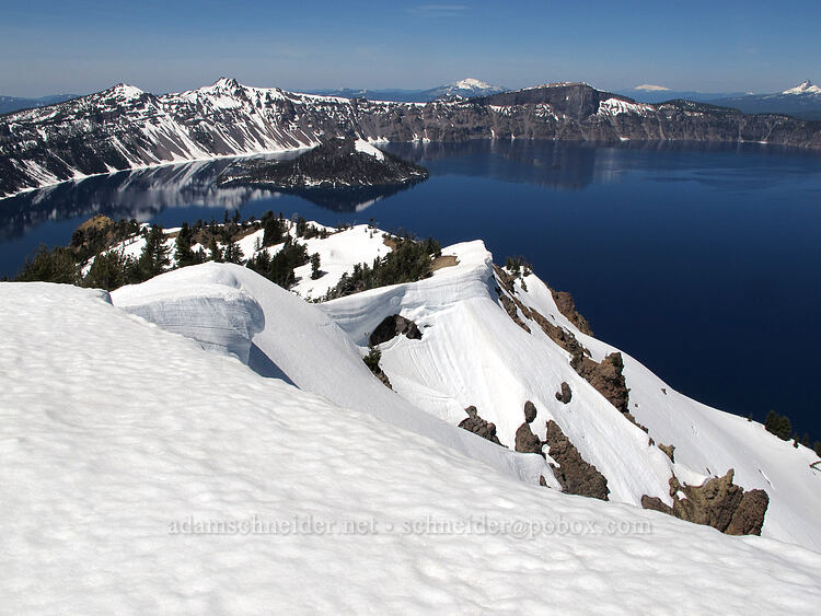 snow & Crater Lake [Garfield Peak, Crater Lake National Park, Oregon]