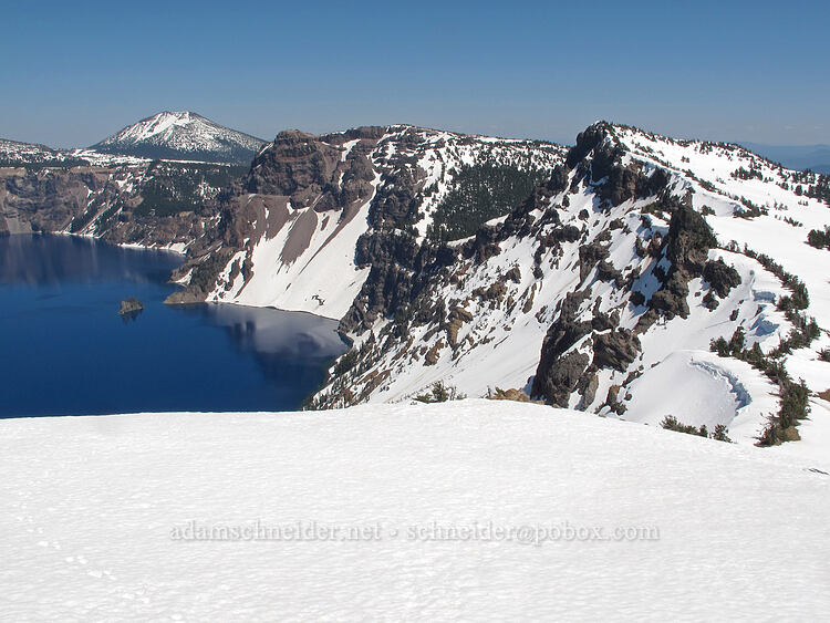 Mt. Scott, Dutton Cliff, & Applegate Peak [Garfield Peak summit, Crater Lake National Park, Oregon]