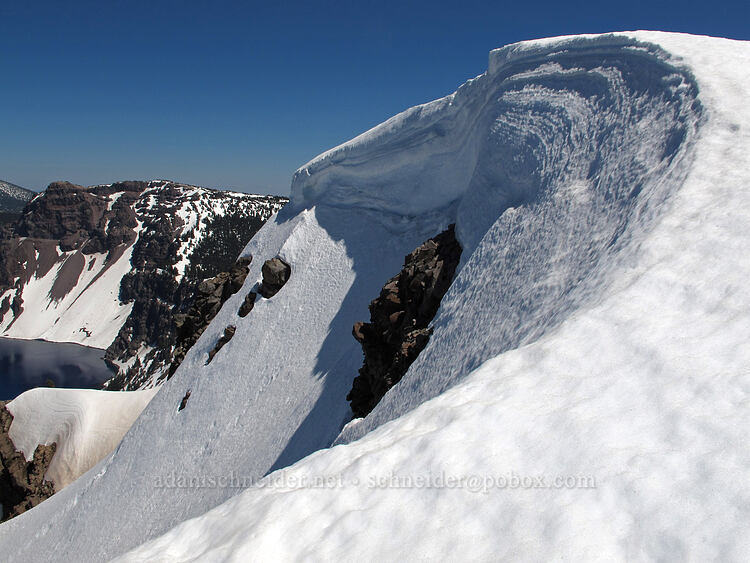 cornices at the summit [Garfield Peak Trail, Crater Lake National Park, Oregon]