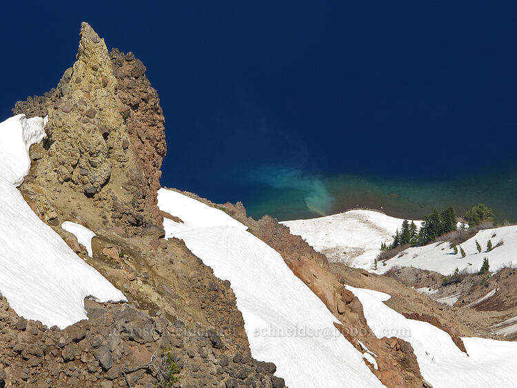 silty spring [Garfield Peak Trail, Crater Lake National Park, Oregon]