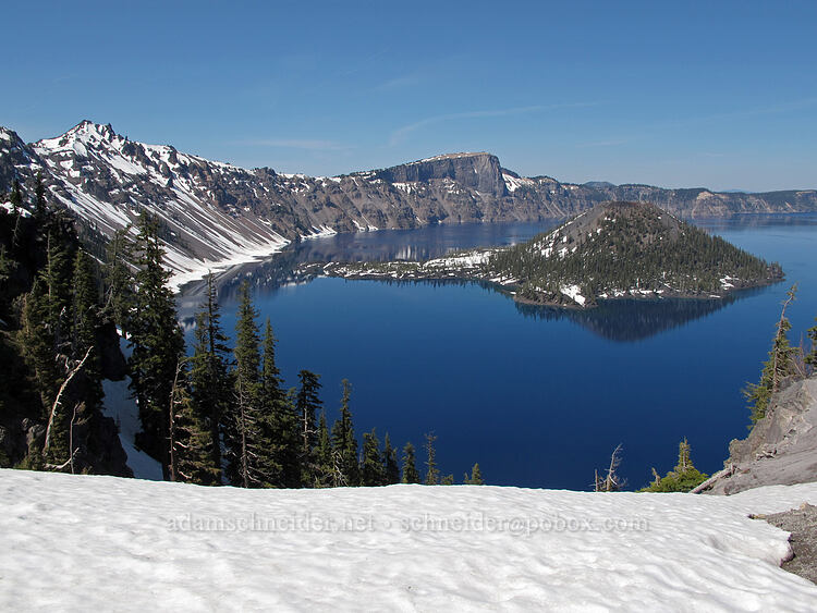 Hillman Peak & Wizard Island [Discovery Point, Crater Lake National Park, Oregon]