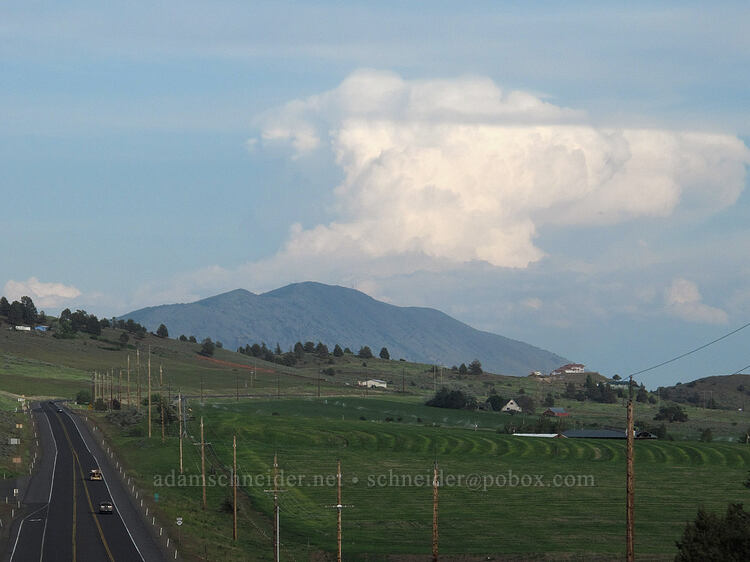distant thunderstorm [Highway 140, Klamath County, Oregon]
