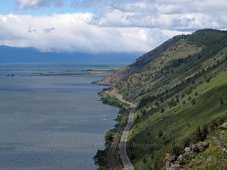 Modoc Point & distant snow showers [Modoc Rim, Fremont-Winema National Forest, Oregon]