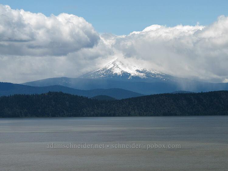 Mt. McLoughlin & snow showers [Modoc Rim, Fremont-Winema National Forest, Oregon]