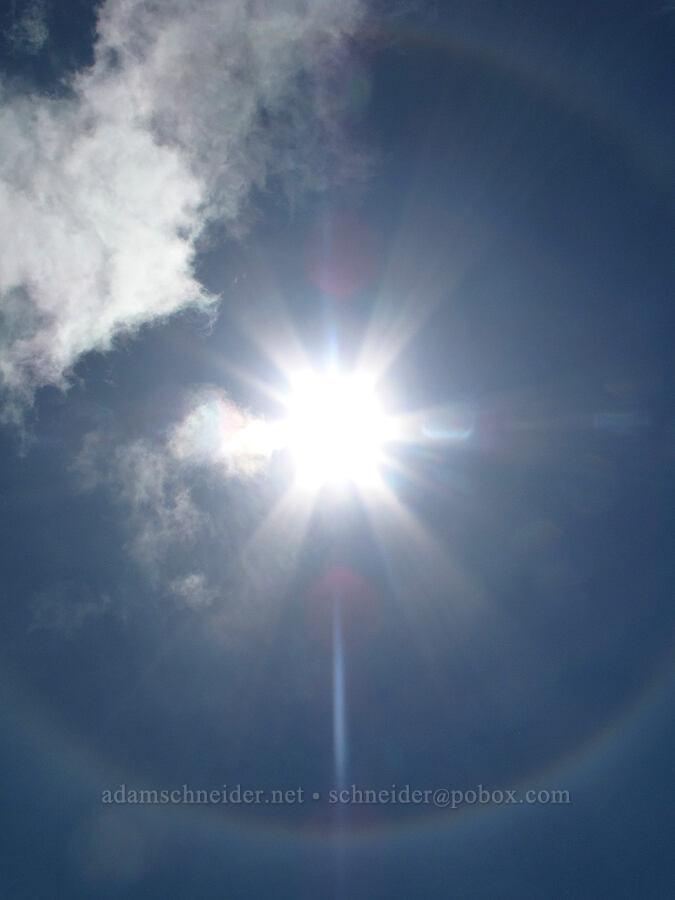 22° solar halo [Saddle Mountain summit, Clatsop County, Oregon]