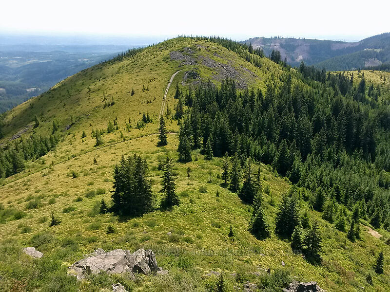 view to the southwest [Pyramid Rock, Gifford Pinchot National Forest, Washington]