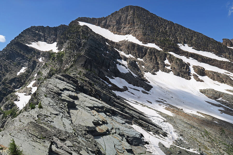 Snowshoe Peak & Blackwell Glacier [Snowshoe Peak-Bockman Peak ridge, Cabinet Mountains Wilderness, Montana]
