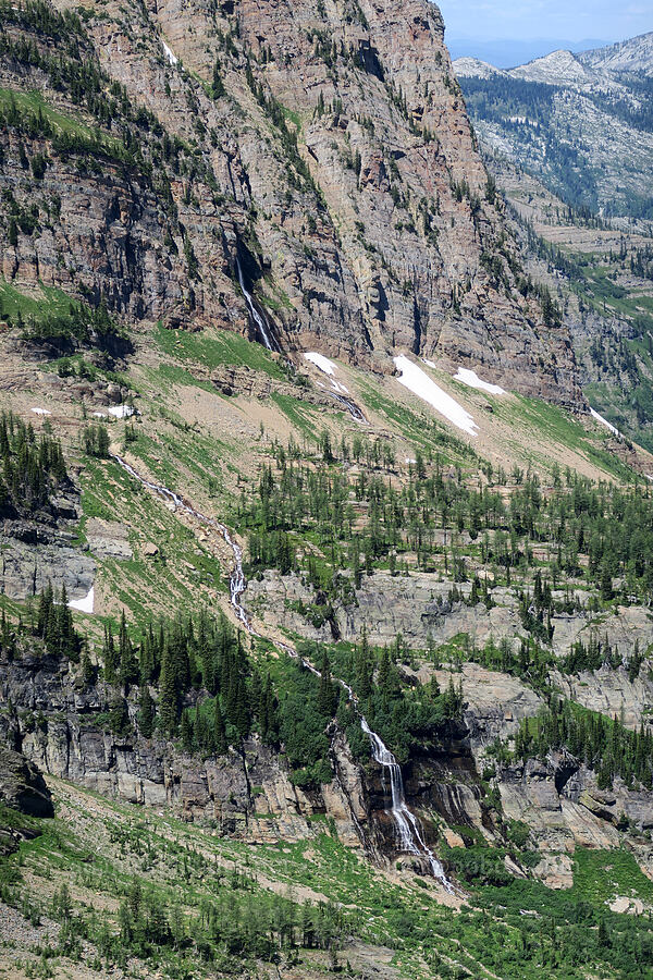 waterfalls below A Peak [Snowshoe Peak-Bockman Peak ridge, Cabinet Mountains Wilderness, Montana]