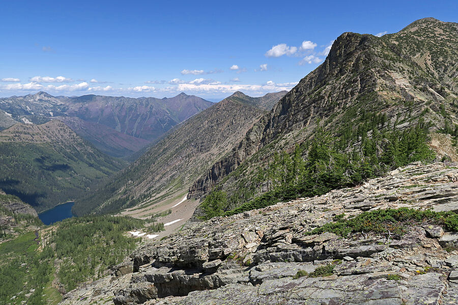 Bockman Peak & Granite Lake [Snowshoe Peak-Bockman Peak ridge, Cabinet Mountains Wilderness, Montana]