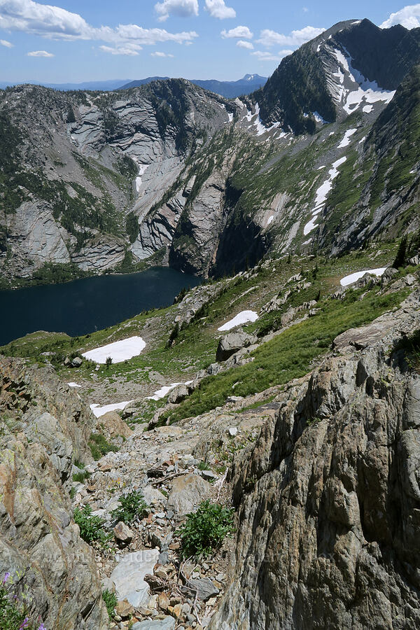 descent route [above Leigh Lake, Cabinet Mountains Wilderness, Montana]