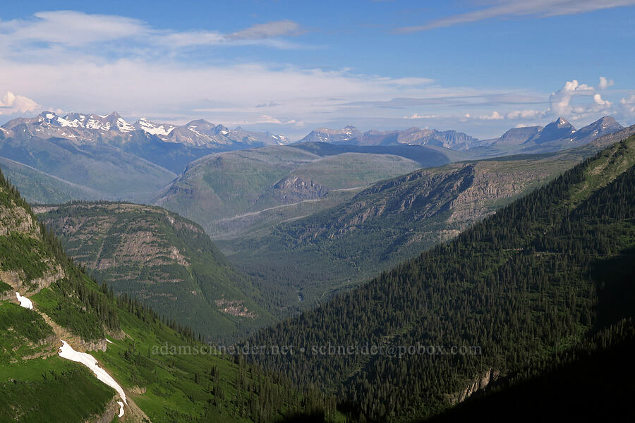mountains to the northwest [Highline Trail, Glacier National Park, Montana]