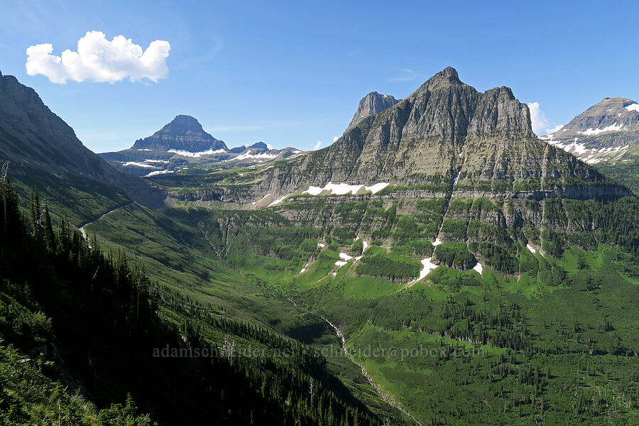 Reynolds Mountain, Clements Mountain, & Mt. Oberlin [Highline Trail, Glacier National Park, Montana]