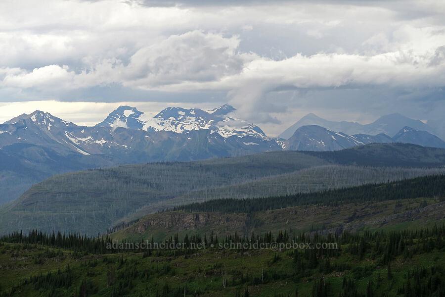 Vulture Peak & clouds [Highline Trail, Glacier National Park, Montana]