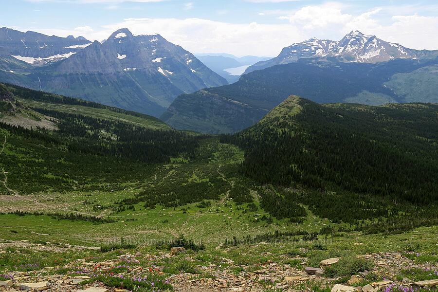 Mt. Cannon, Heavens Peak, & Lake McDonald [Garden Wall Trail, Glacier National Park, Montana]