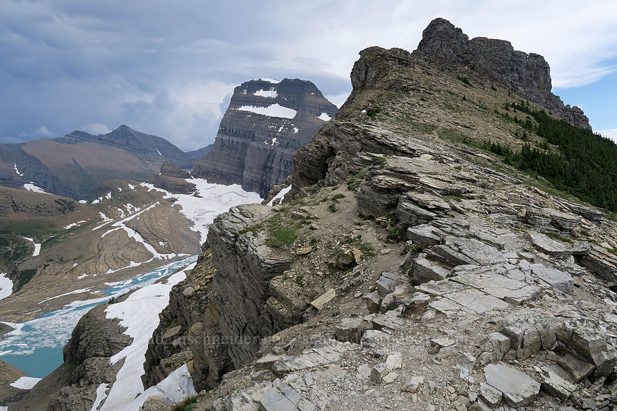 Mt. Gould & the Continental Divide [Garden Wall Trail, Glacier National Park, Montana]