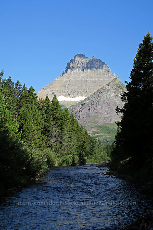 Swiftcurrent Creek & Mt. Wilbur [Swiftcurrent Nature Trail, Glacier National Park, Montana]