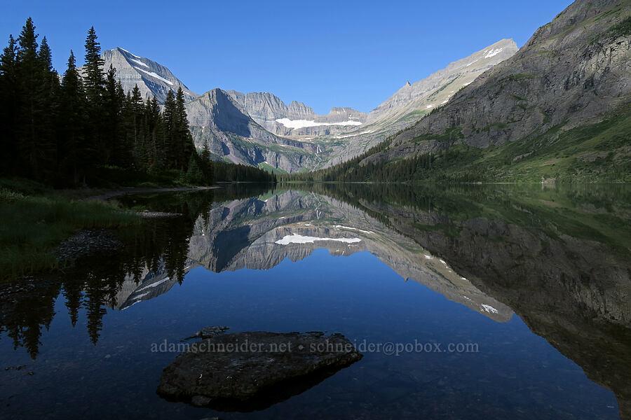 Mt. Gould, Grinnell Basin, & Lake Josephine [South Shore Lake Josephine Trail, Glacier National Park, Montana]