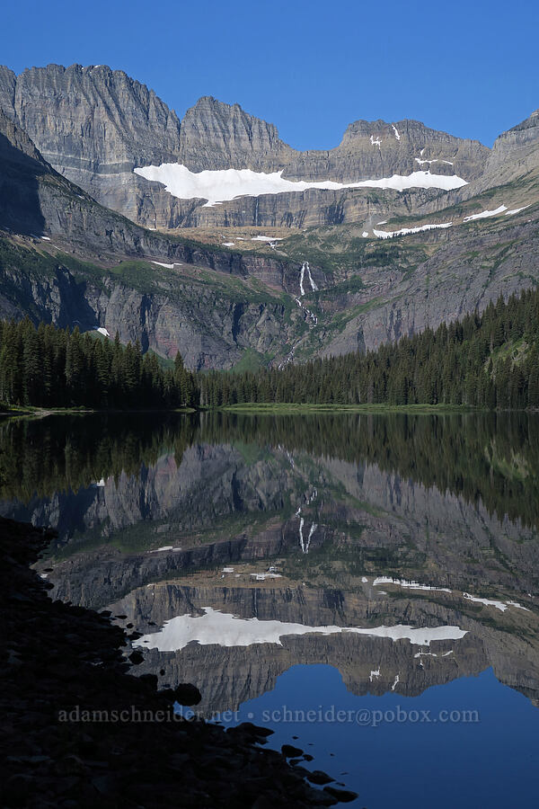 Salamander Glacier, Grinnell Basin, & Lake Josephine [South Shore Lake Josephine Trail, Glacier National Park, Montana]