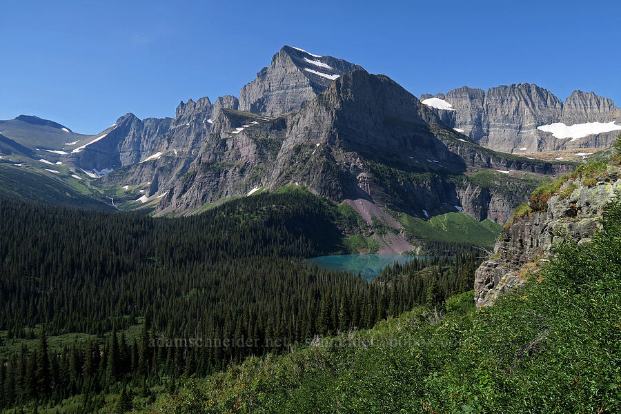 Mt. Gould, Angel Wing, & Grinnell Lake [Grinnell Glacier Trail, Glacier National Park, Montana]