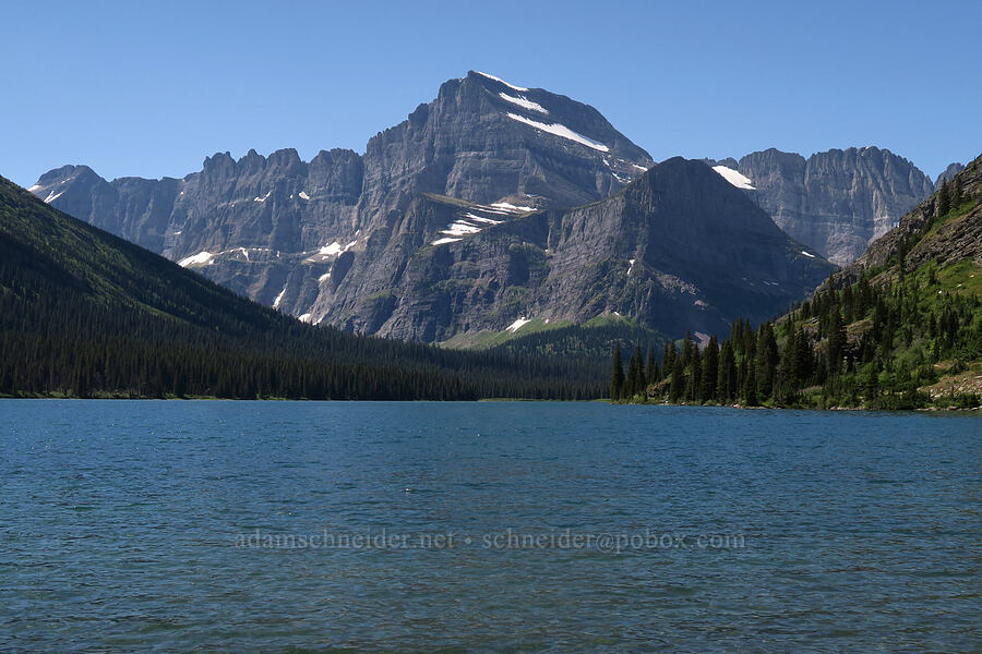Mt. Gould & Swiftcurrent Lake [Swiftcurrent Lake south dock, Glacier National Park, Montana]