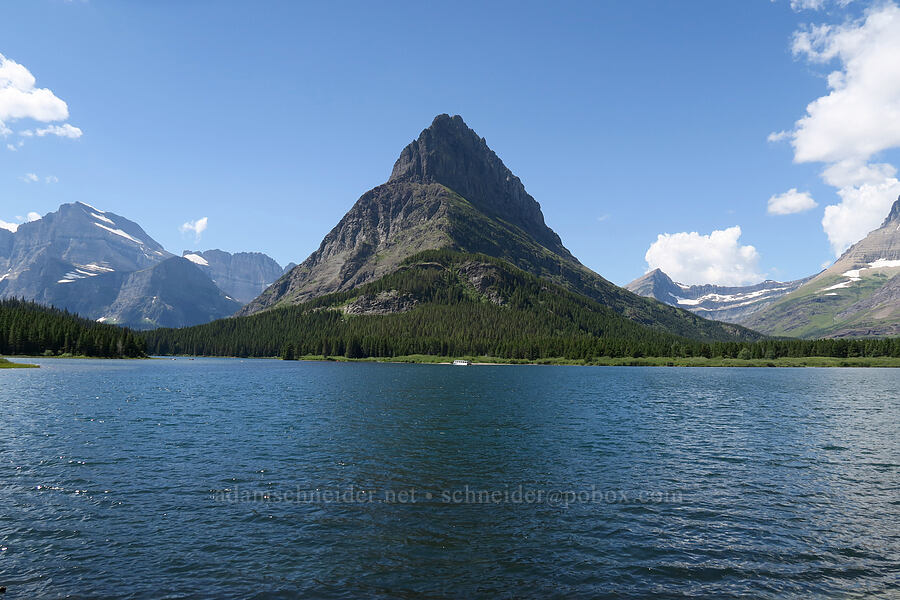 Grinnell Point & Swiftcurrent Lake [Many Glacier, Glacier National Park, Montana]