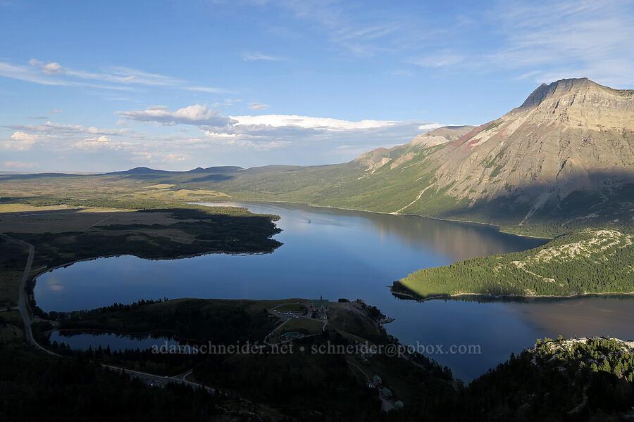 Middle Waterton Lake,prairie, & mountains [Bear's Hump Trail, Waterton Lakes National Park, Alberta, Canada]
