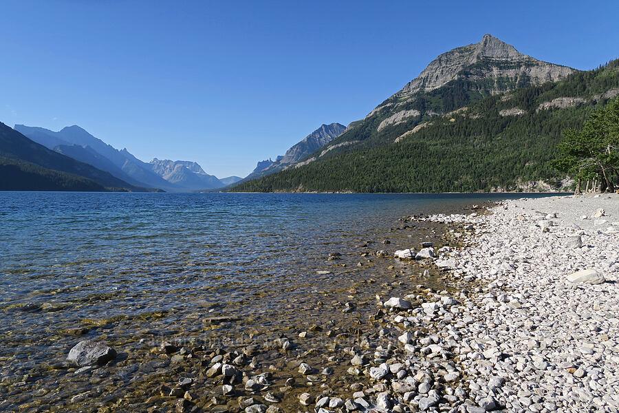 Upper Waterton Lake & Mt. Richards [Waterton Townsite, Waterton Lakes National Park, Alberta, Canada]
