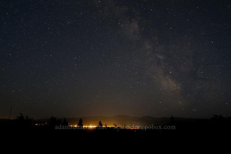 Milky Way & East Glacier Village [Kitson Hill, East Glacier Park, Montana]