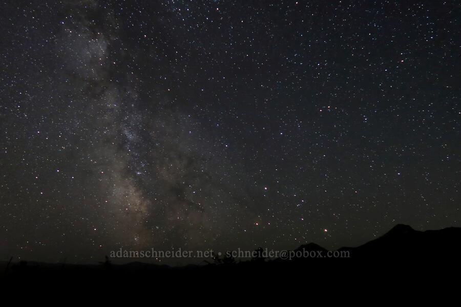 Milky Way, stars, & mountains [Kitson Hill, East Glacier Park, Montana]