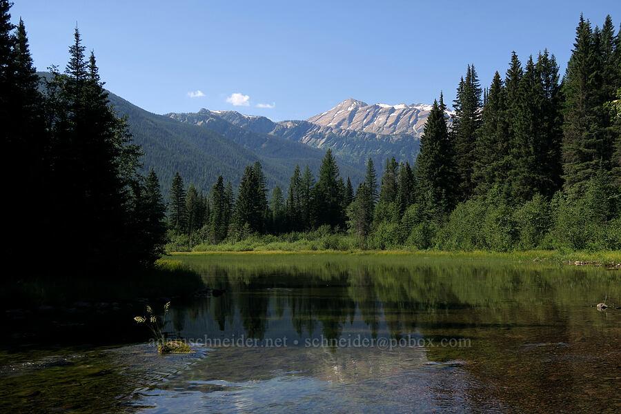 Stanton Creek & Great Northern Mountain [Stanton Lake Trail, Great Bear Wilderness, Montana]