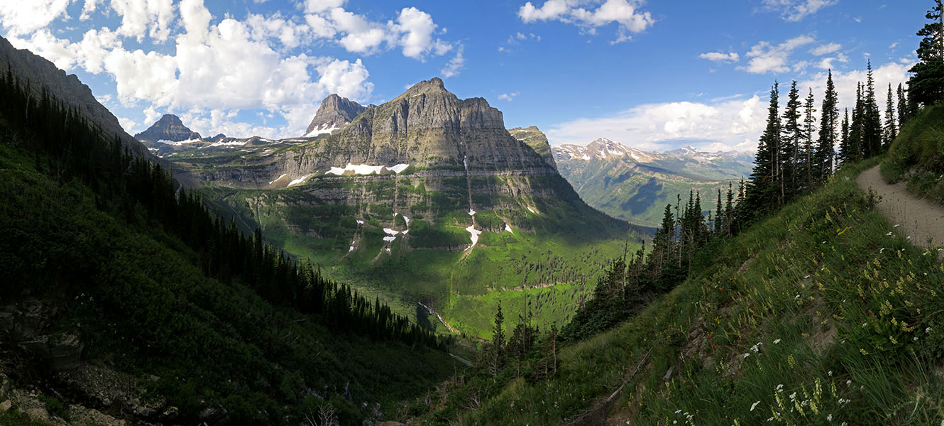 Highline Trail panorama [Highline Trail, Glacier National Park, Montana]