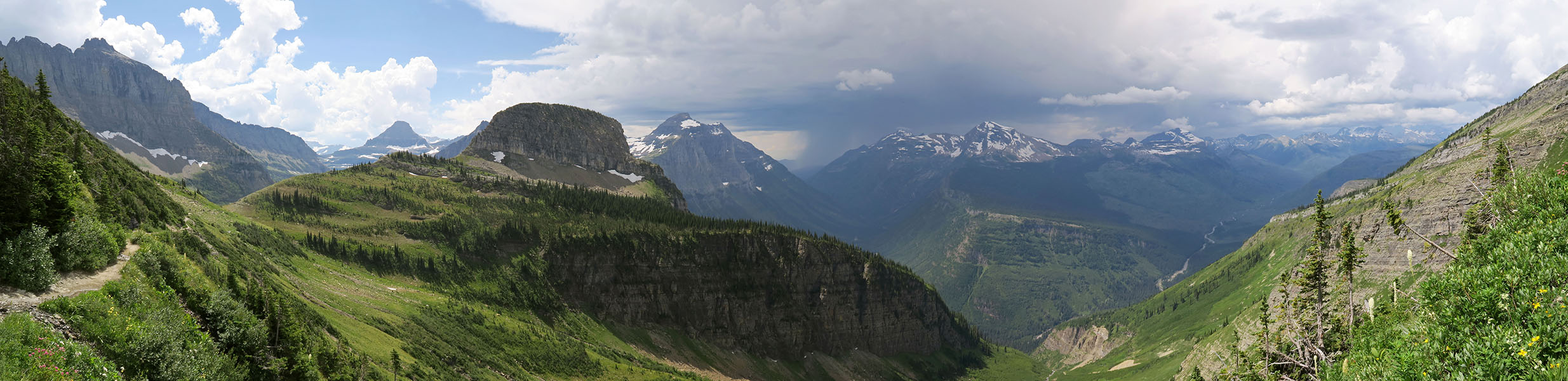 Haystack Butte panorama [Highline Trail, Glacier National Park, Montana]