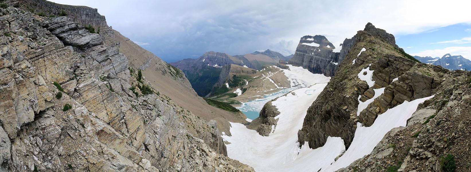 Garden Wall panorama [Garden Wall Trail, Glacier National Park, Montana]