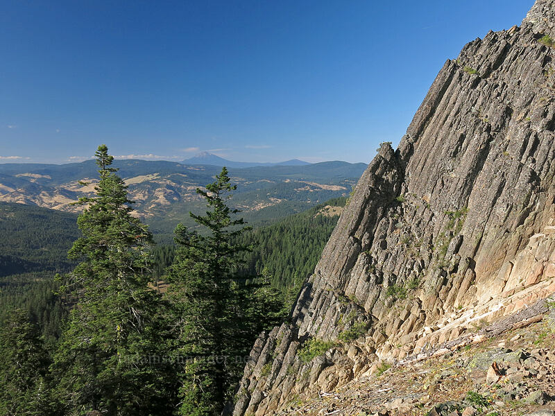 Pilot Rock & Mt. McLoughlin [Pilot Rock, Soda Mountain Wilderness, Oregon]