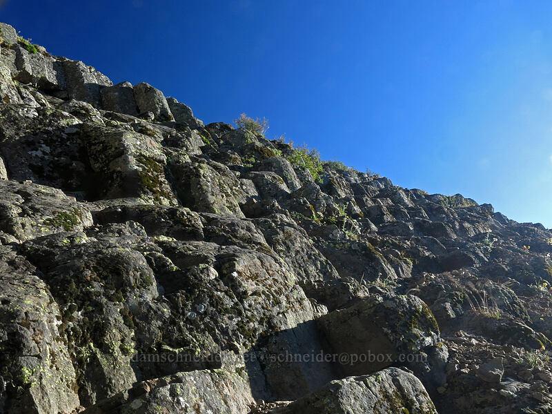 basalt stairs [Pilot Rock, Soda Mountain Wilderness, Oregon]