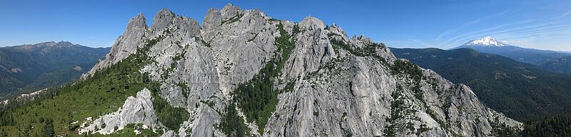 Castle Crags panorama [Castle Dome, Castle Crags Wilderness, California]