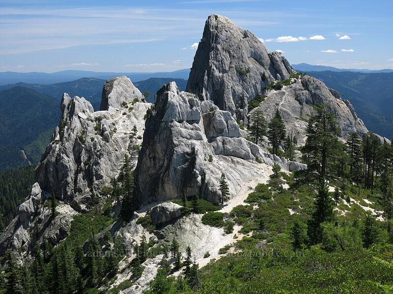 Castle Dome & vicinity [below Mt. Hubris, Castle Crags Wilderness, California]
