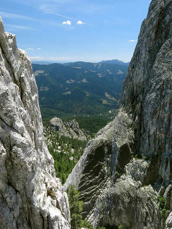notch north of Mt. Hubris [Mt. Hubris, Castle Crags Wilderness, California]
