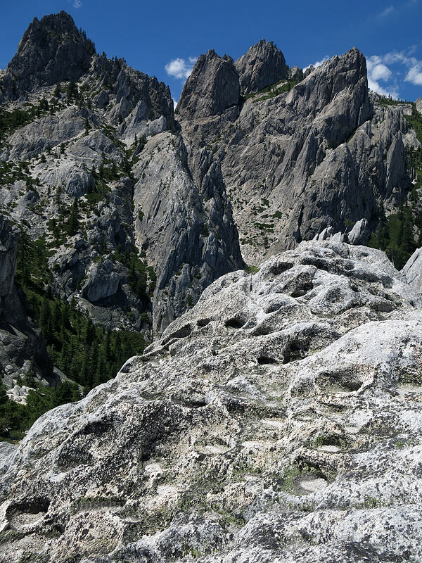 pitted granite [The Observation Deck, Castle Crags Wilderness, California]
