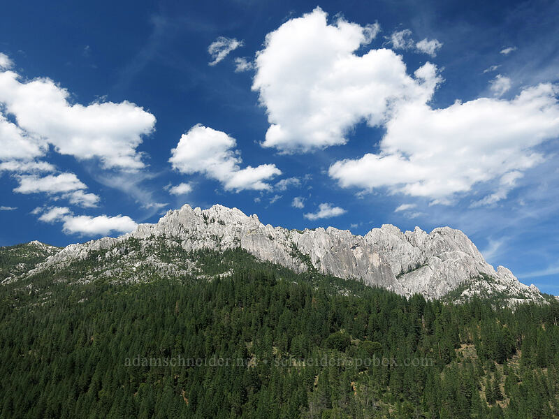 Castle Crags & clouds [Castle Creek Road, Shasta-Trinity National Forest, California]