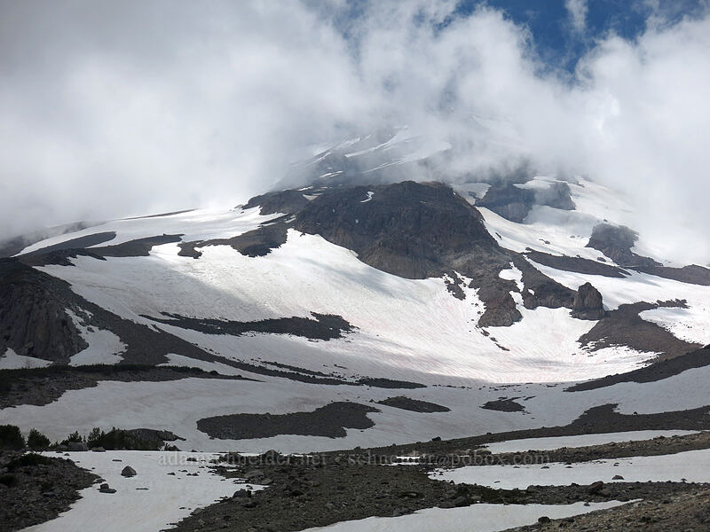 Mt. Shasta & clouds [Clear Creek Valley, Mount Shasta Wilderness, California]