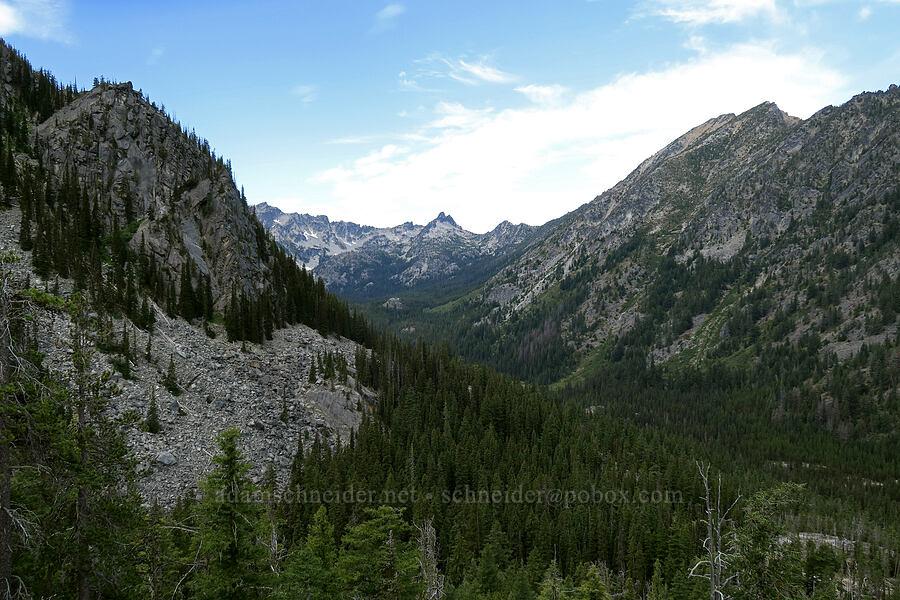 Stuart Lake's basin [Colchuck Lake Trail, Alpine Lakes Wilderness, Washington]