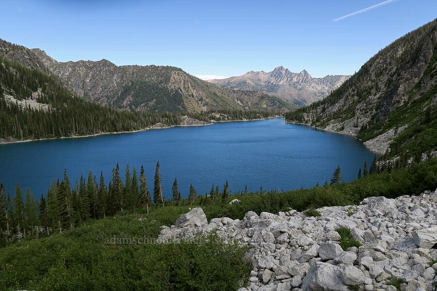 Colchuck Lake & Cashmere Mountain [below Aasgard Pass, Alpine Lakes Wilderness, Washington]