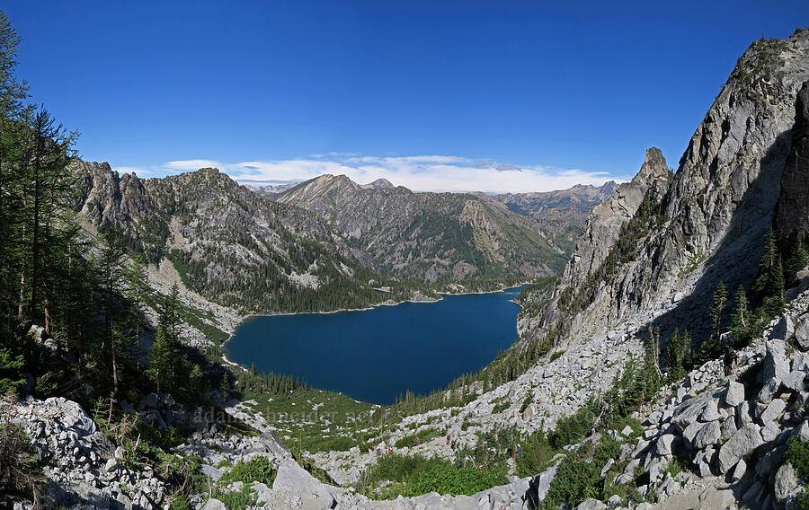 Colchuck Lake panorama [below Aasgard Pass, Alpine Lakes Wilderness, Washington]