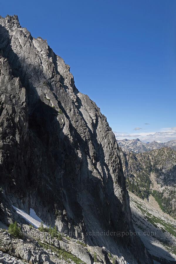 edge of Dragontail Peak [below Aasgard Pass, Alpine Lakes Wilderness, Washington]