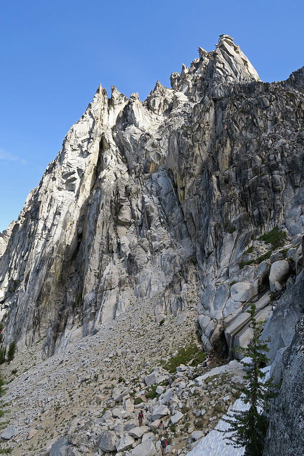 sharp rocks [below Aasgard Pass, Alpine Lakes Wilderness, Washington]