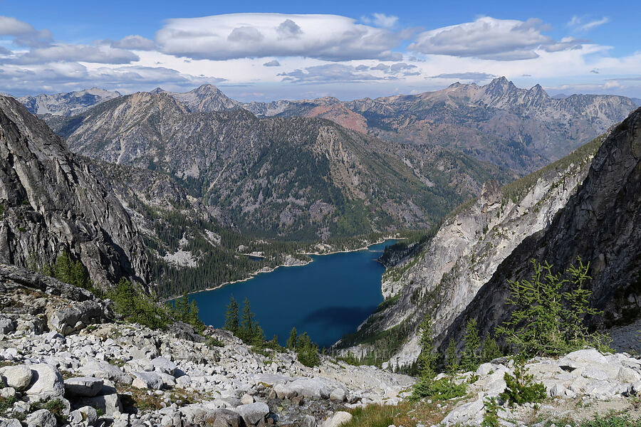 Colchuck Lake & the Central Cascades [below Aasgard Pass, Alpine Lakes Wilderness, Washington]
